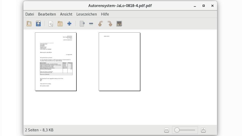 PDFs können Sie unter Ubuntu mit dem Tool PDF Mod zusammenfügen.