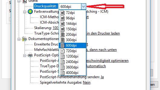 PDF-Dokument über die dpi-Einstellung komprimieren