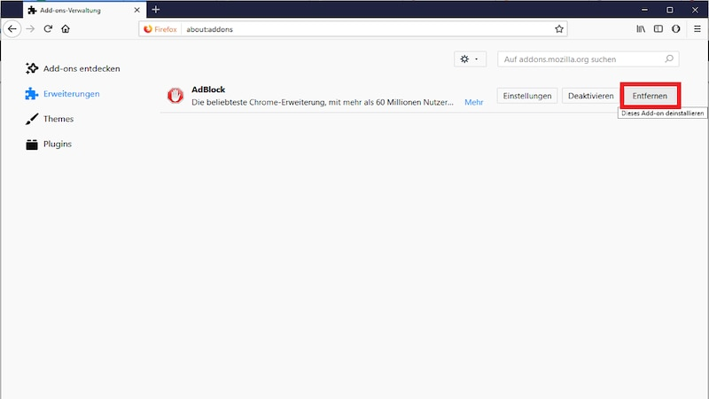 Aufdringliche Adware und andere Malware aus Firefox entfernen