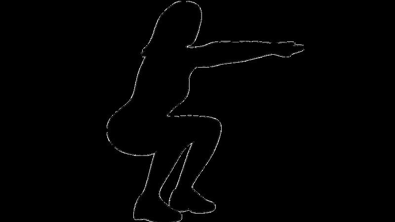 Squats sind eine gute Aufwärmübung für ein 7 Minute Workout. Sie können diese Übung variieren, indem Sie Ihre Beine auswärts drehen.