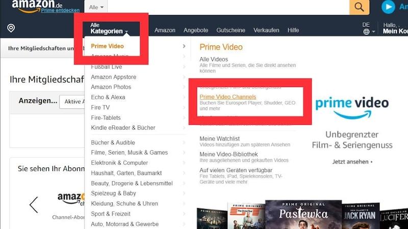 Amazon Channel kündigen
