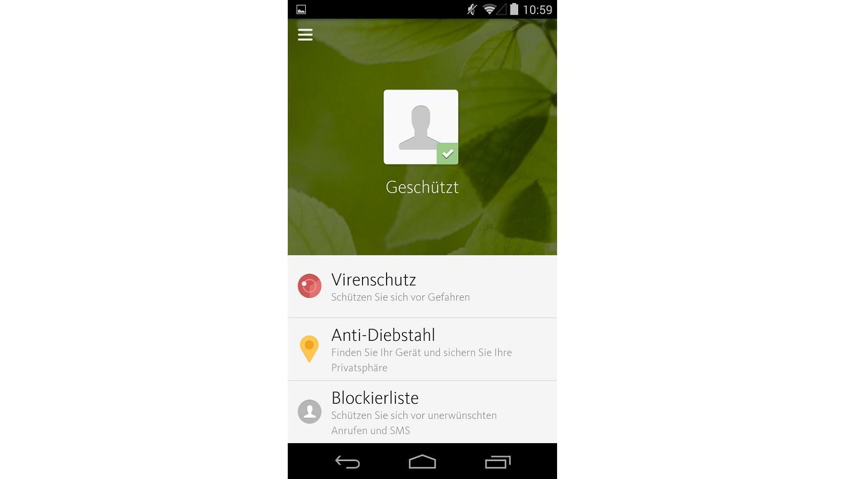 Mit der Avira Antivirus Security App können Sie sich über einen Viren- und Diebstahlschutz freuen