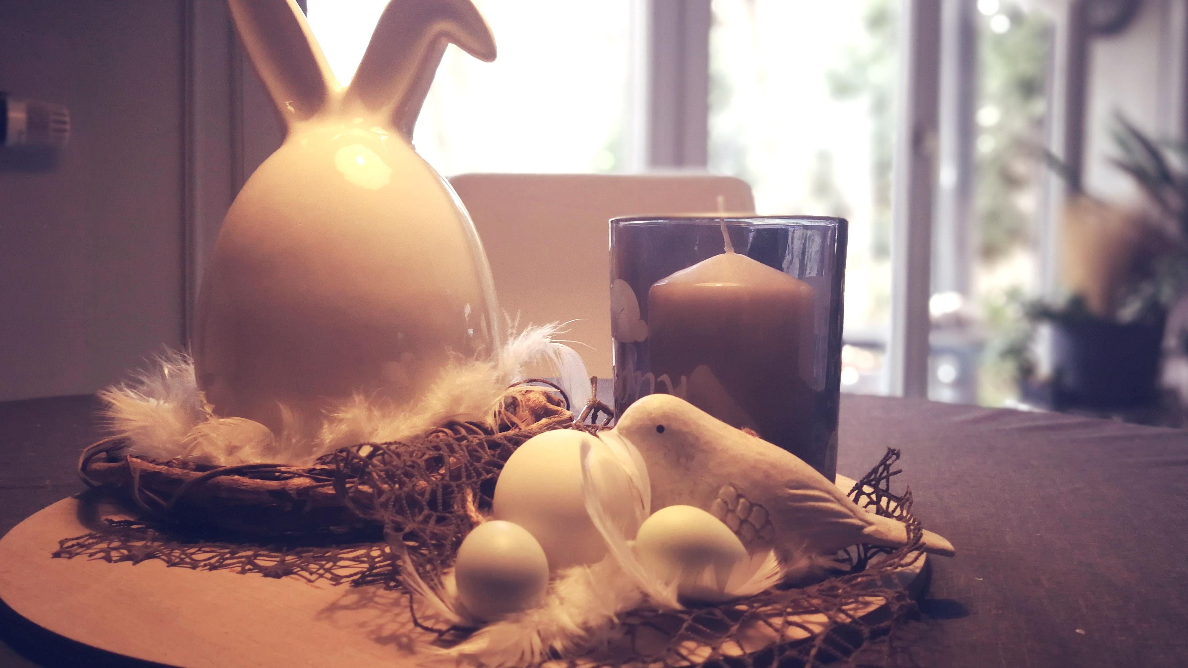 Mal was anderes: Ein Keramik-Ei mit Hasenohren
