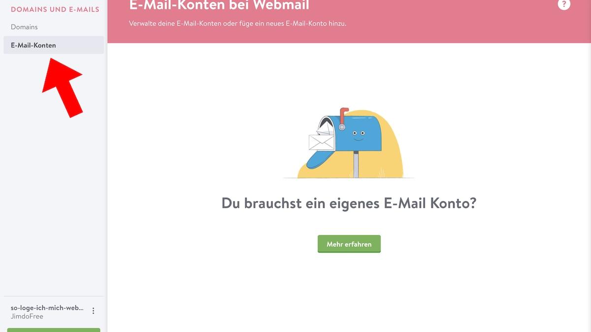 Jimdo-Webmail Login: