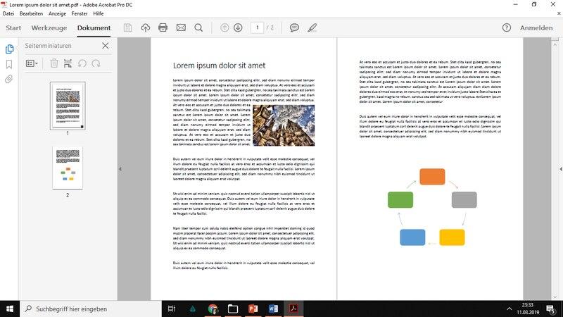Adobe Acrobat Reader ist perfekt zum Lesen Ihrer PDF Dateien