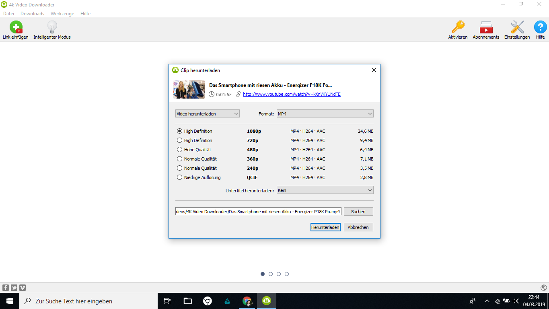 Mit dem 4K Video Downloader Videos herunterladen