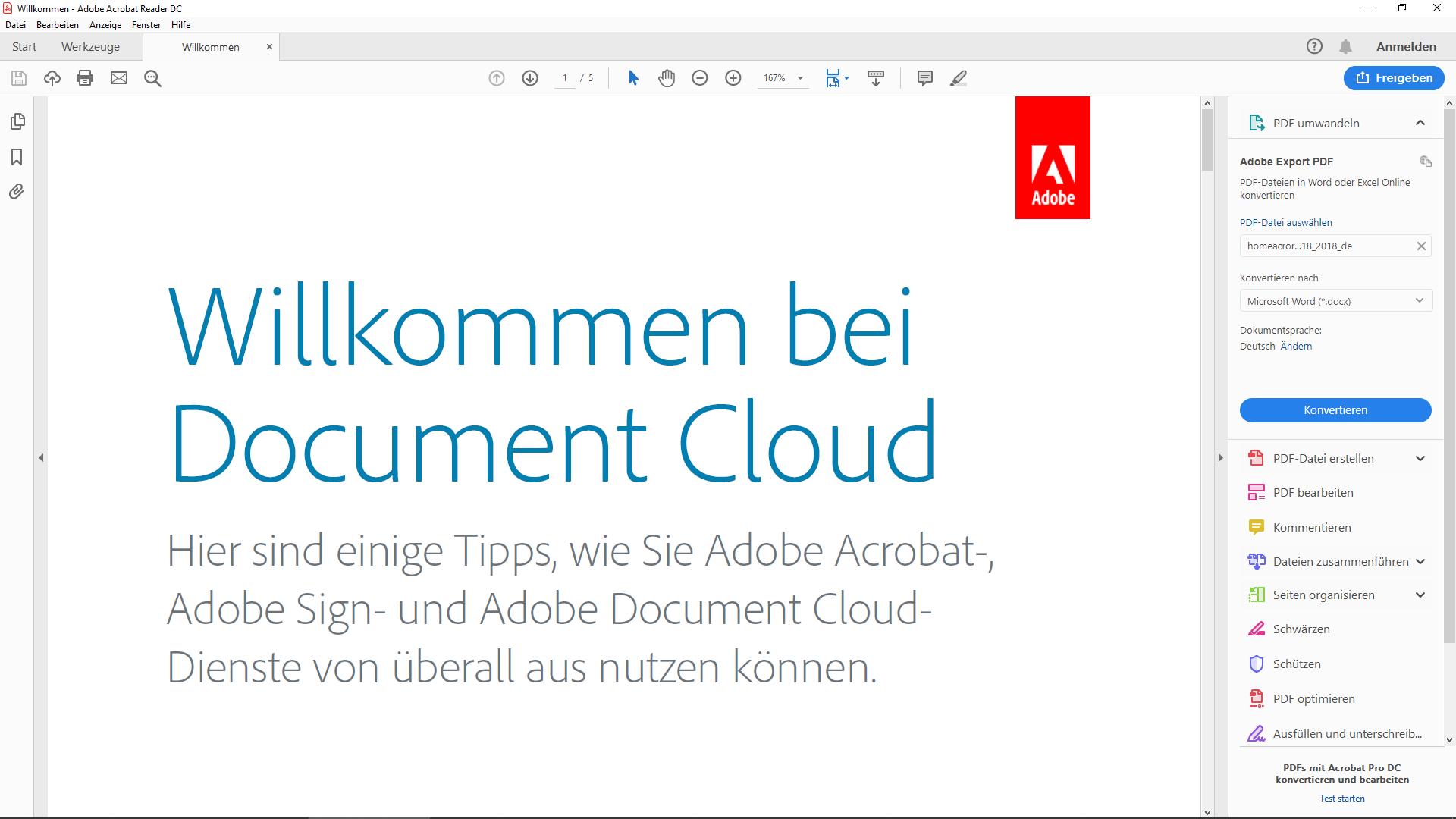 Kostenlos PDFs bearbeiten: Adobe Reader