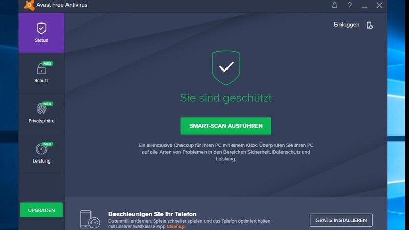 Eines der Highlights des kostenlosen Antivirenprogramms Avast ist die übersichtliche Benutzeroberfläche