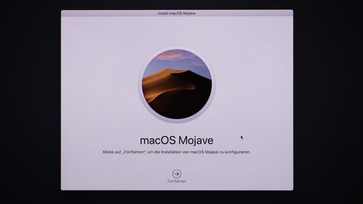 Folgen Sie den Anweisungen, um das neuste Betriebssystem auf Ihrem Mac zu installieren