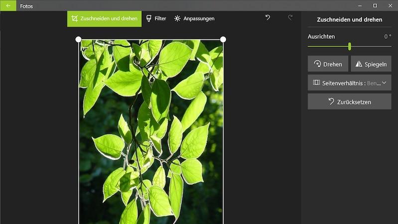 Bild drehen mit Foto-App