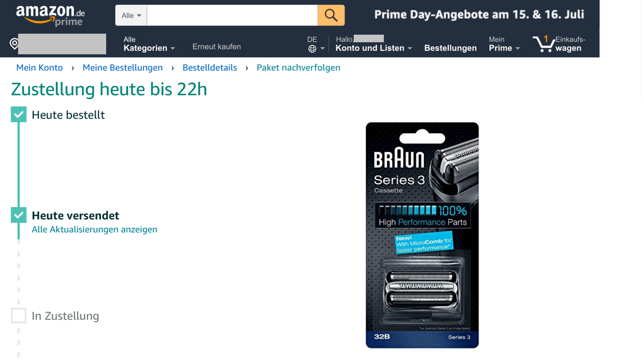 Tracking bei Amazon Logicstics