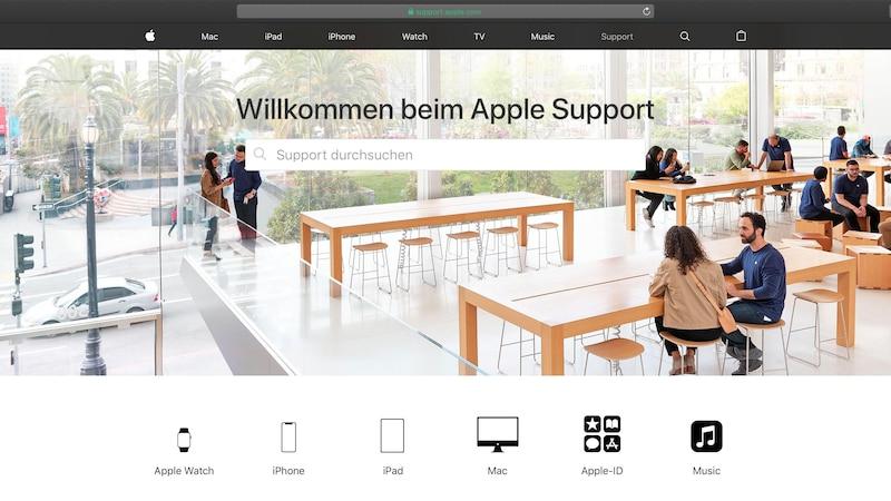 Wenn das iPhone nicht mehr funktioniert, sollten Sie den Apple Support kontaktieren