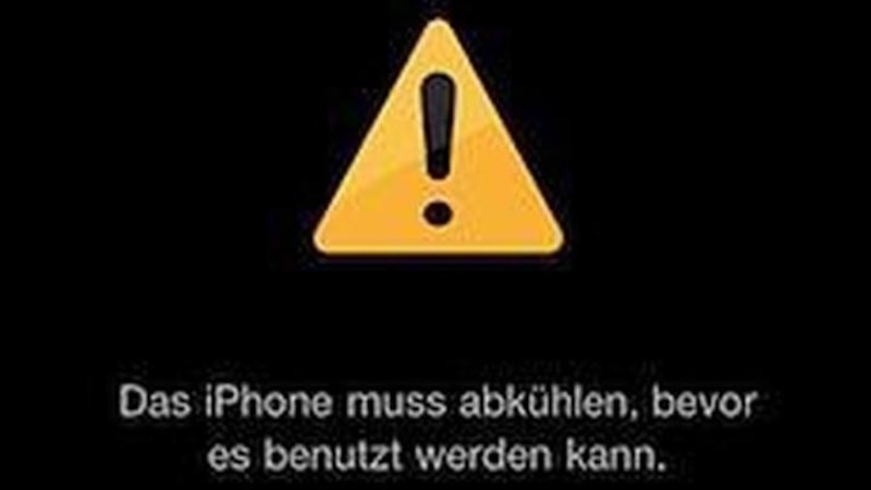 Wird Ihr iPhone zu heiß, funktioniert es nicht mehr richtig und muss zunächst runterkühlen.