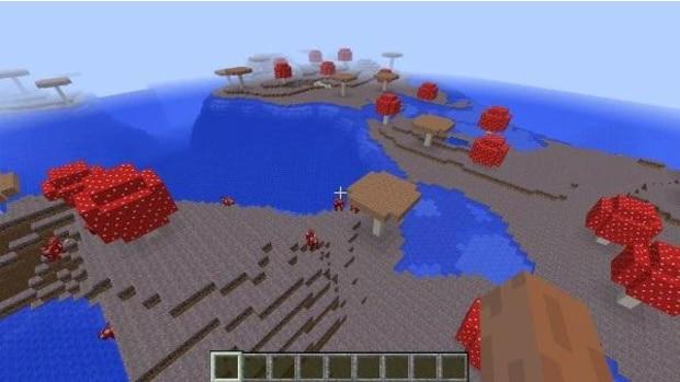 1083334716247045059: Dieses Pilz-Biom ist voll von skurilen Pilz-Bäumen und Pilz-Kühen. Diese Landschaft ist außerdem extrem selten!