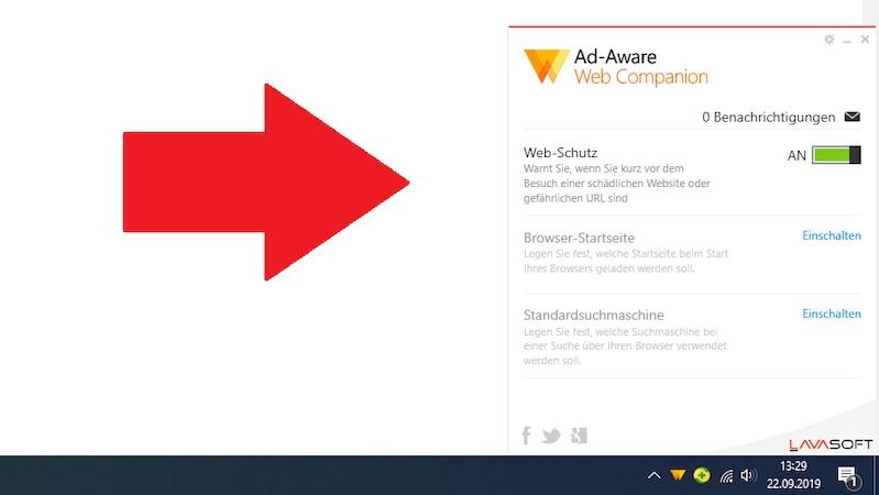 Web Companion von Ad-Aware soll Ihren Browser beschützen.