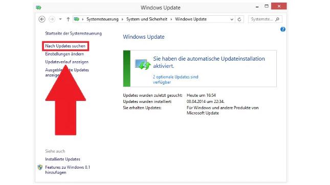 IE per Windows Update aktualisieren