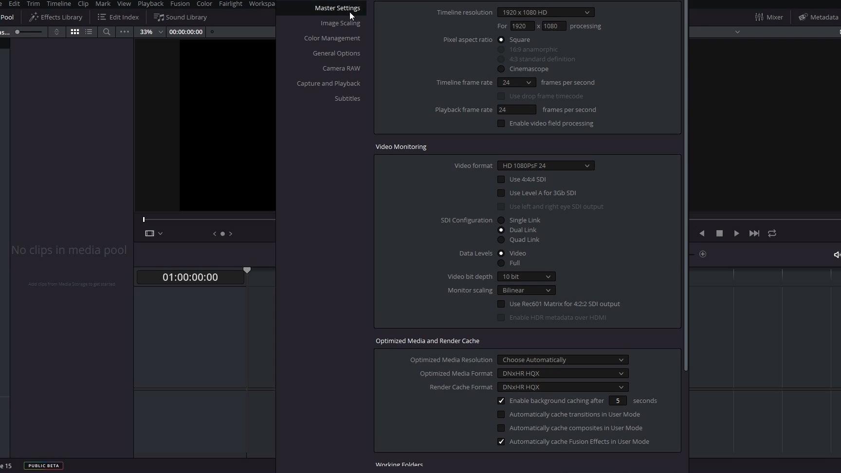 DaVinci Resolve ermöglicht eine Videobearbeitung mit mehreren Bildschirmen.