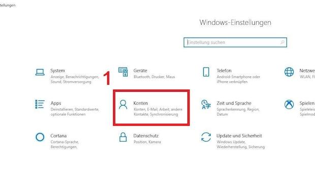 Bild 1: Windows 10: Benutzerkonto löschen - Drücken Sie die Tastenkombination
