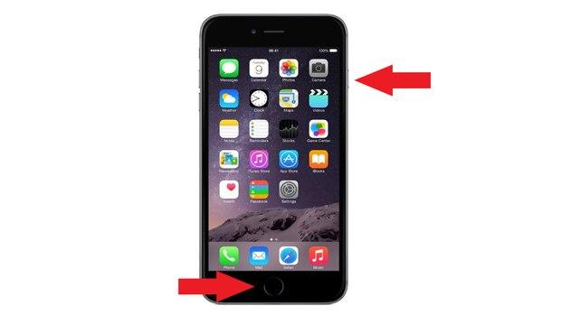 Beim iPhone 6 reicht schon das gleichzeitige Drücken auf die beiden Tasten.