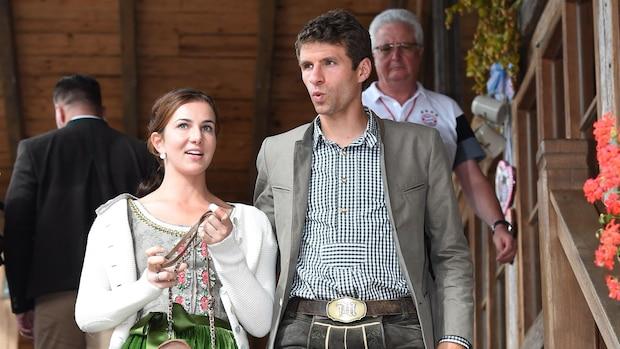 Stammgäste: Lisa Müller mit ihrem Thomas auf dem Münchner Oktoberfest 2016