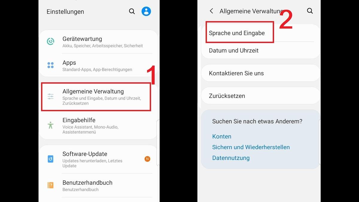 Android-Tastatur optimal einstellen - Wählen Sie in den Einstellungen zunächst