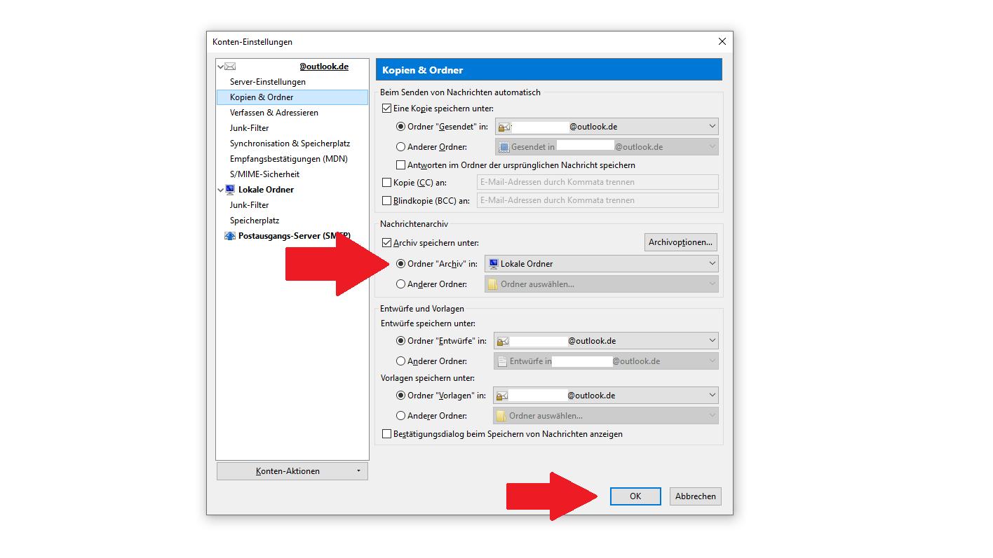 Mails sichern: Mail-Archiv in Thunderbird bearbeiten