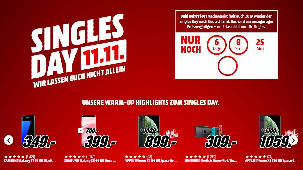 Singles Day bei Media Markt