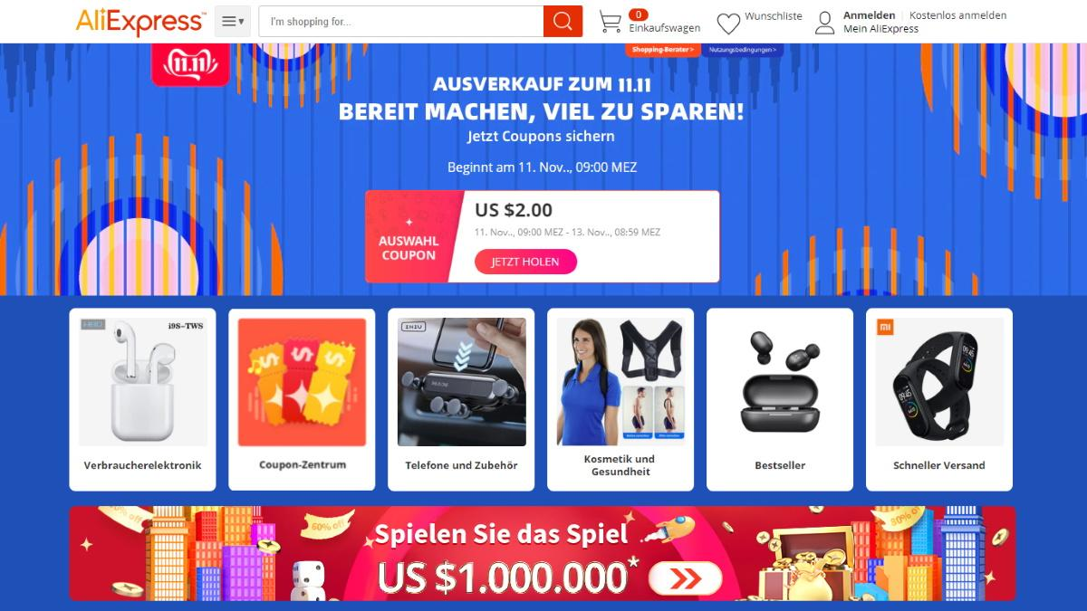 Singles Day: Rabatte bei AliExpress
