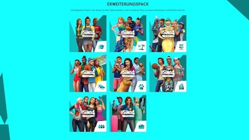 Die Sims 4: Erweiterungspacks