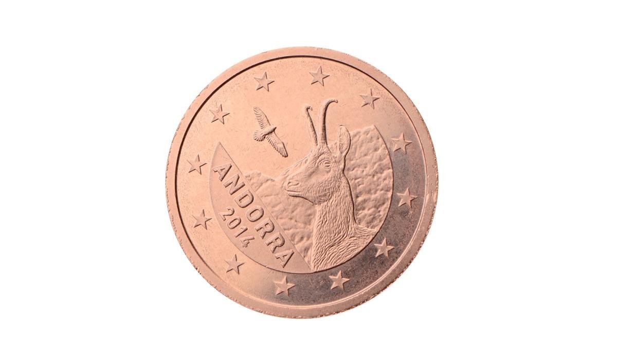 Wertvolle 2 Cent Münze aus Andorra