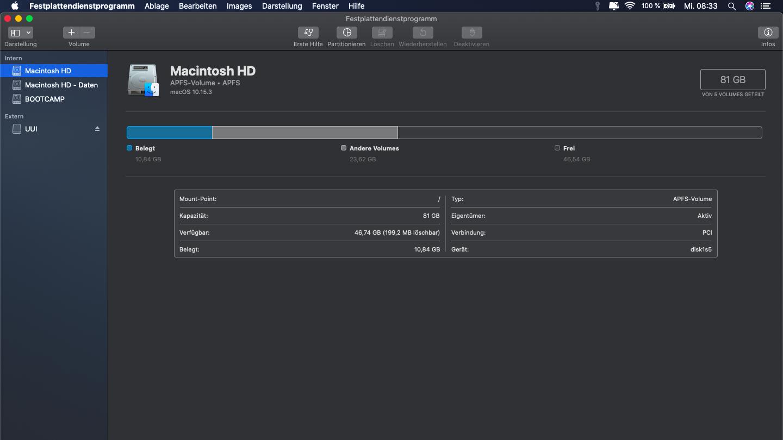 Externe Festplatte formatieren beim Mac: Starten Sie das Festplattendienstprogramm