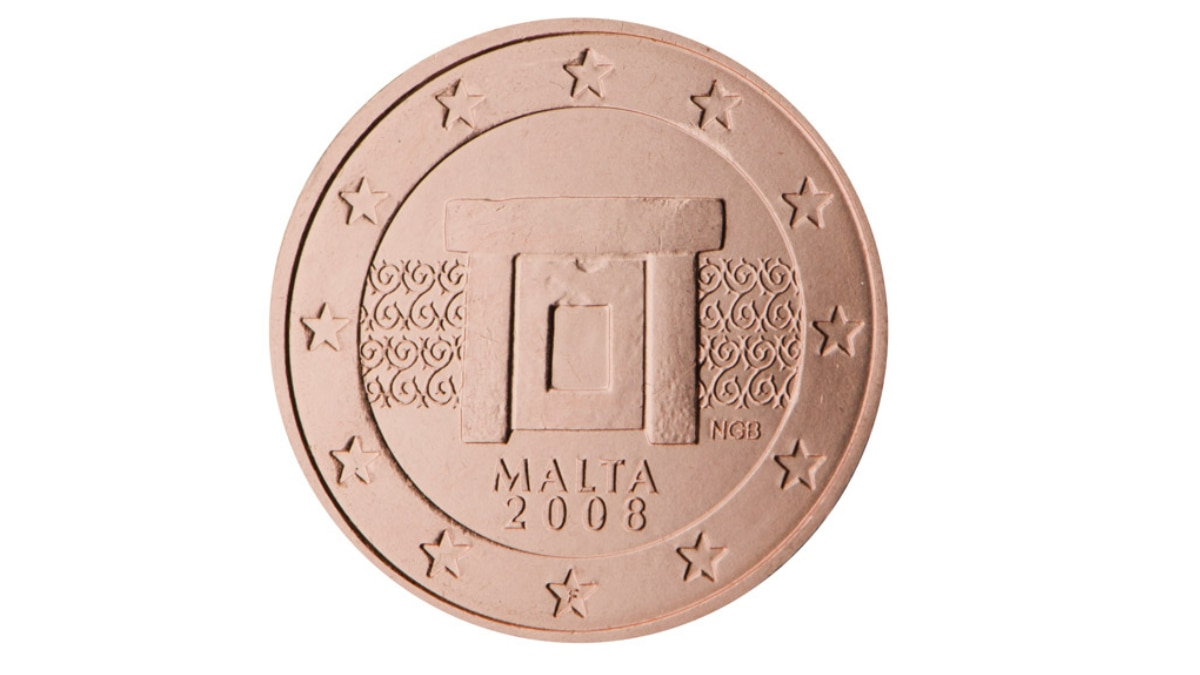 Wertvolle 2 Cent Münze aus Malta