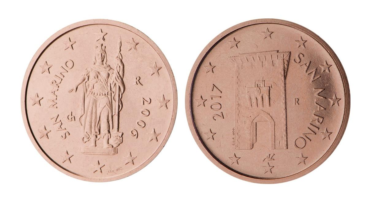 Wertvolle 2 Cent Münze aus San Marino