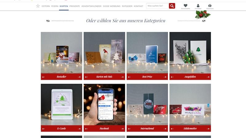 Geschäftliche Weihnachtskarten online einfach via Weihnachtsplaner.de gestalten.