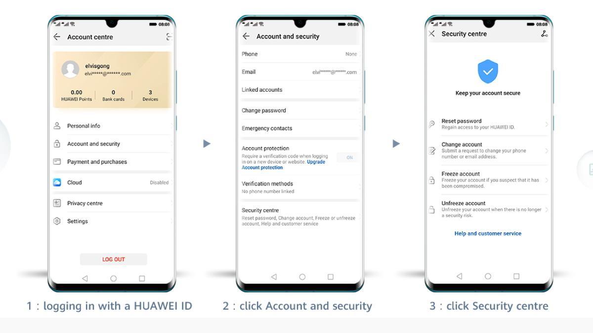 Um die Huawei Mobile Services nutzen zu können, müssen Sie Ihre ID aktualisieren.