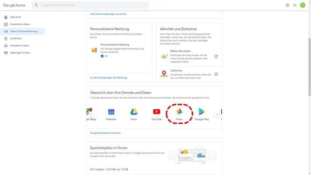 Alle Google Fotos exportieren - Schritt 3