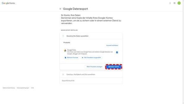 Alle Google Fotos exportieren - Schritt 5