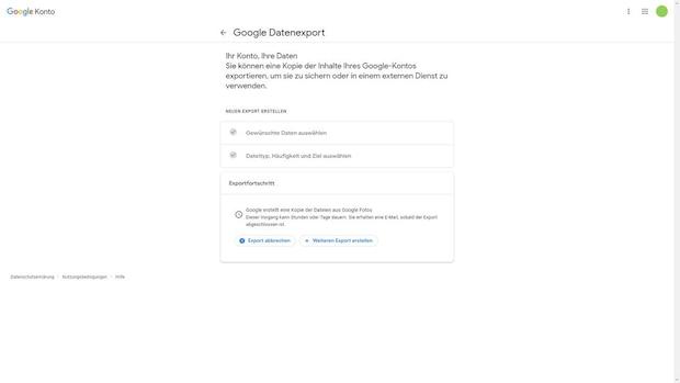 Alle Google Fotos exportieren - Schritt 7