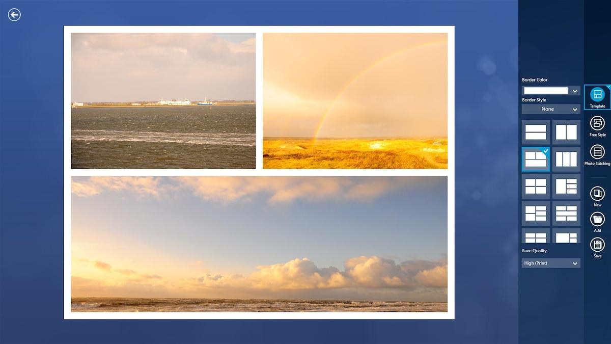 Fotor bietet Ihnen unterschiedliche Vorlagen an, mit denen Sie Ihre Collage gestalten können