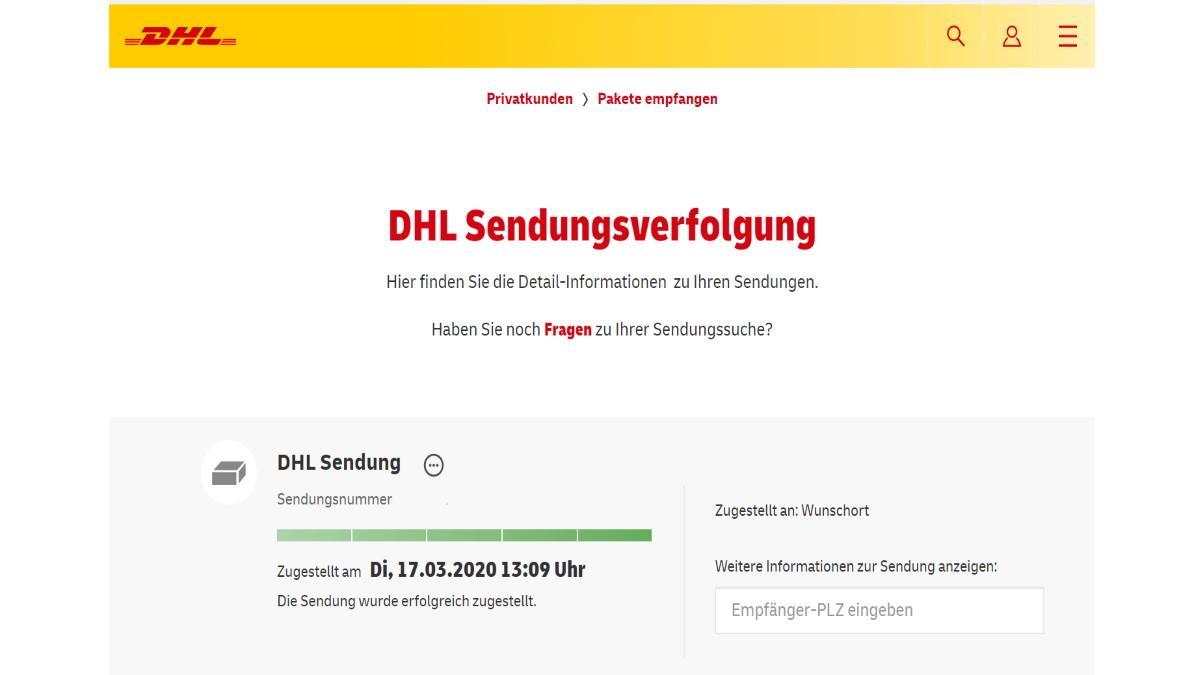 DHL-Paket: Schritt für Schritt den Sendungsverlauf mitverfolgen