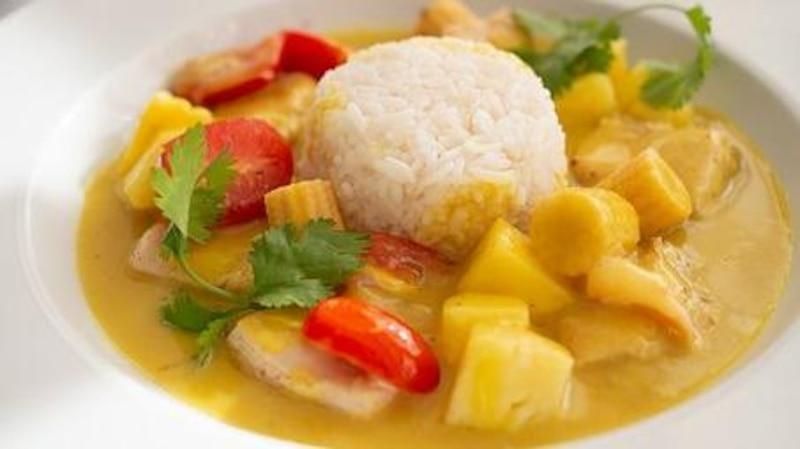 Auch in der veganen Variante ist die Currysauce ein Hochgenuss.