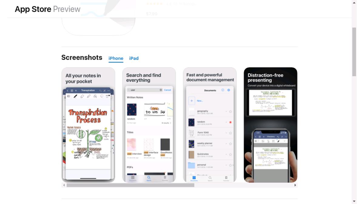 GoodNotes 5 wandelt Handschrift in Text auf iPhones um.