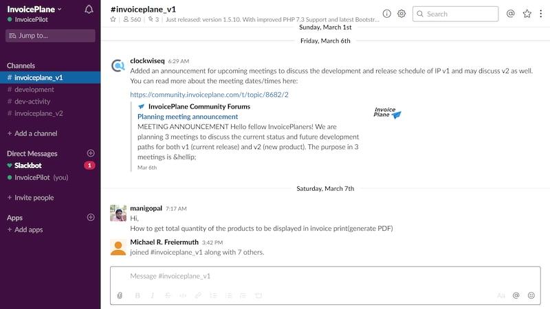 Slack ist für die Kommunikation im Home-Office konzipiert. Sie schreiben in Channels oder direkt an andere Nutzer.