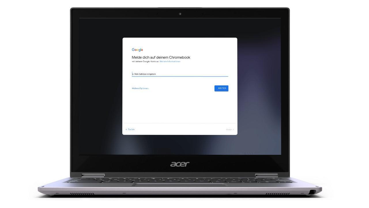 Damit Sie ihr Chromebook mit dem Smartphone entsperren können, müssen beide Geräte auf demselben Google Account angemeldet sein.