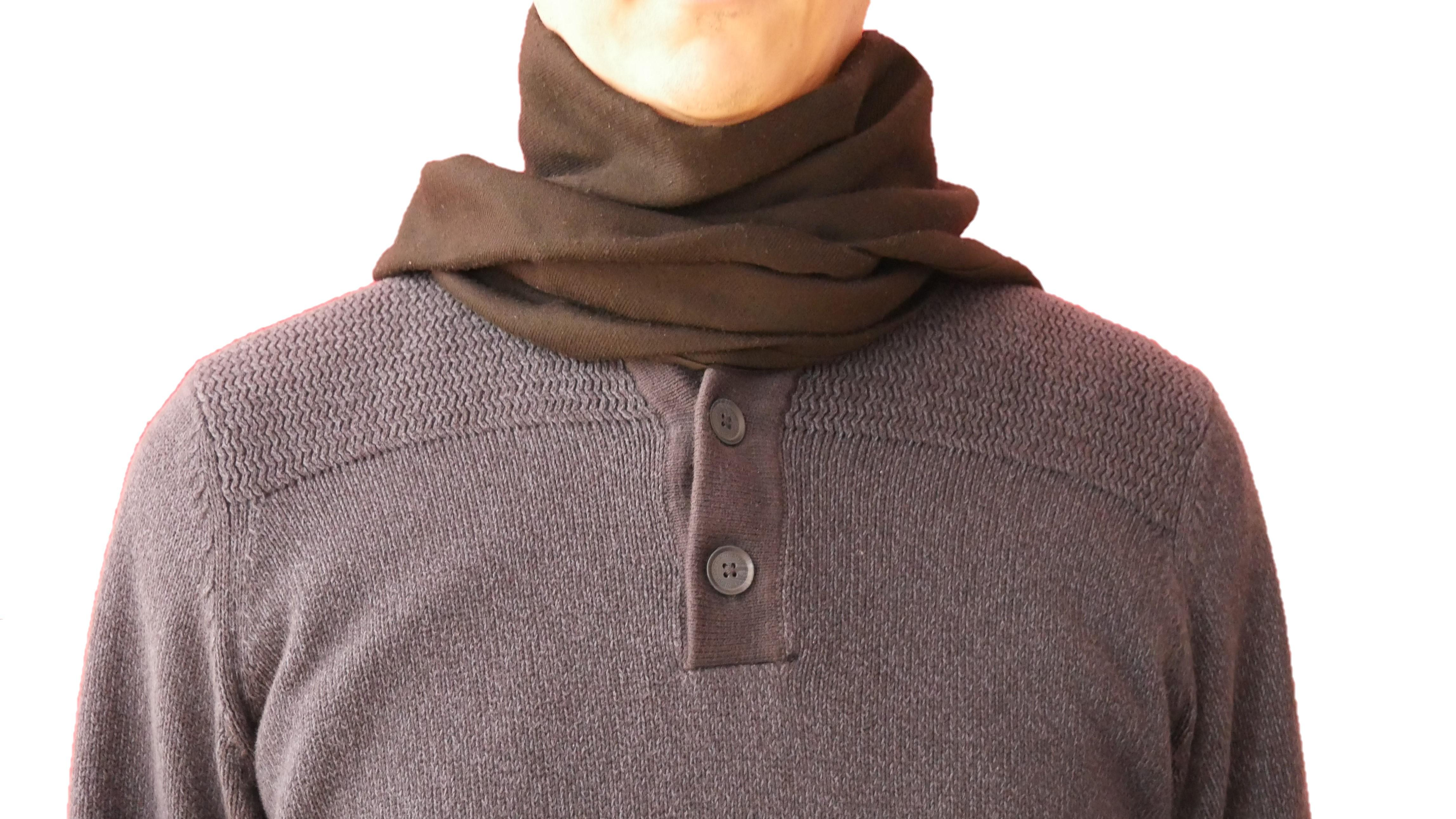 Sie können den Schal auch einmal verkehrt herum tragen.