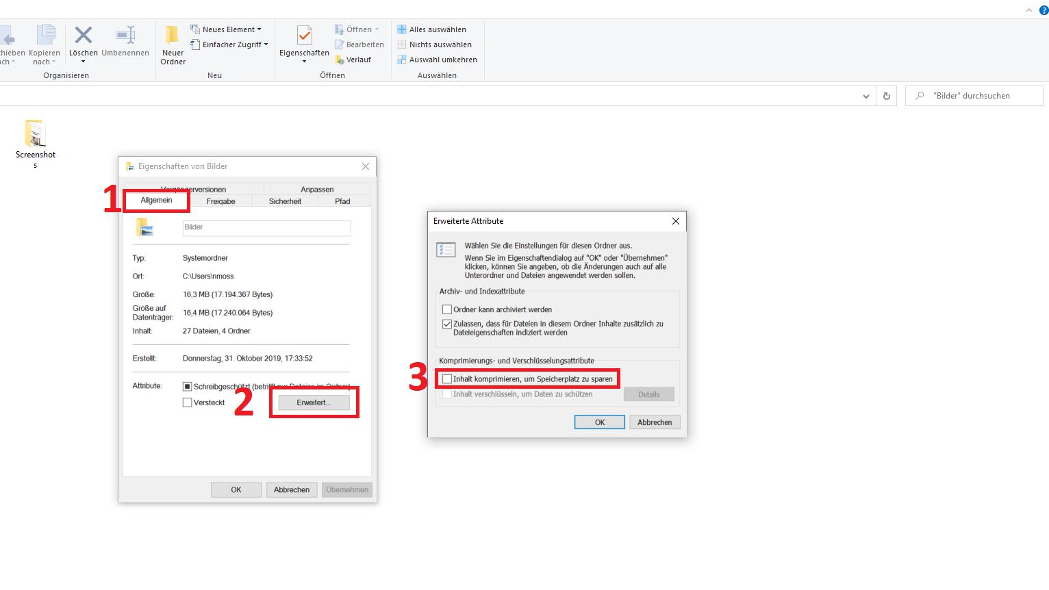 Ordner verschlüsseln unter Windows 10