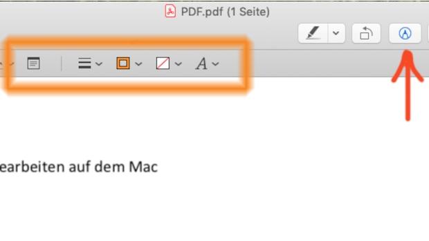 Um das PDF am Mac bearbeiten zu können, öffnen Sie das Dokument in der Vorschau.