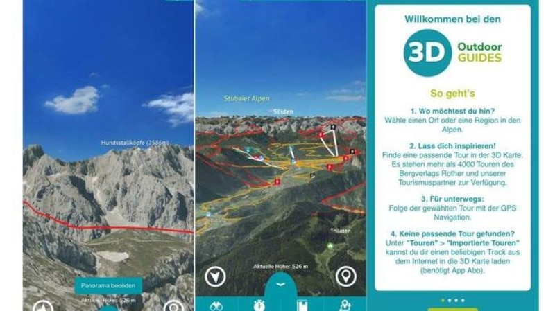 Eine weitere gute Wander-App fürs iPhone: 3D-Outdoor-Guide