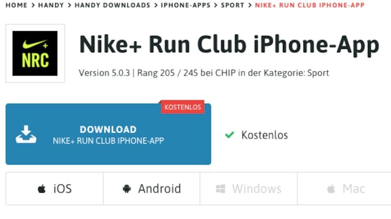 Laufen mit Run Club Nike