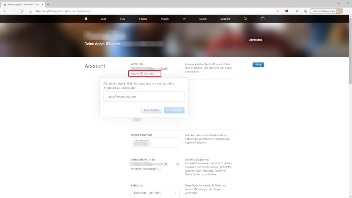 Apple ID ändern   so geht's   CHIP